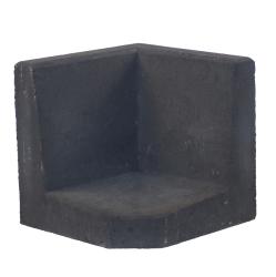L-element 40x40/40x40 Zwart Hoek