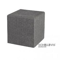 Schellevis Poef Kubus 50x50x50 Antraciet Gen.