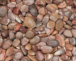 China Pebbles Rood bont 30-50mm 15kg