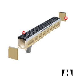 ACO Multidrain D100 Eindplaat