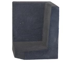 L-element 60x40/40x40 Zwart Hoek