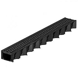 ACO Hexaline Zwart 100cm