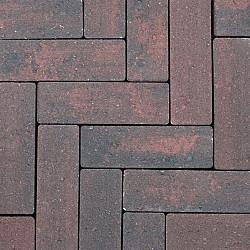 Strackstone+ 21x7x8 Wijnrood-Antraciet