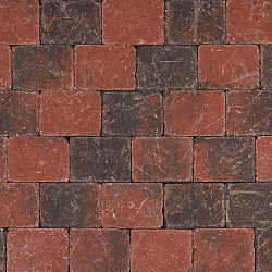Tambour 10x10x6 Rood-Zwart