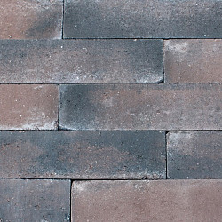 Patioblok getrommeld 60x12x12cm Bruin-zwart