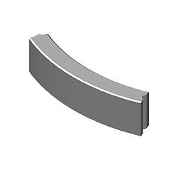 10x20 Bochtband grijs r= 0.5
