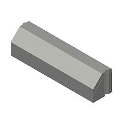 RWS betonband 11,5/22,5x25x100 grijs