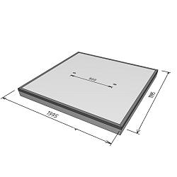 Stelcon 14cm N-plaat met hoeklijn 2x2m