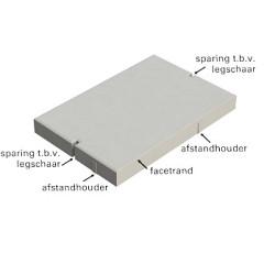Betonplaat 120x80x12cm T4