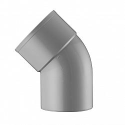 100 mm 45' bocht 1x lijmmof grijs hwa
