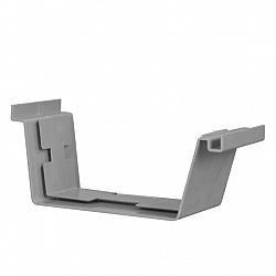 Bakgoot 180 mm verbindingsstuk grijs