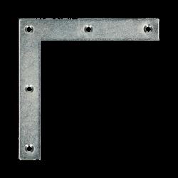 Platte winkelhaak 90`10x40/40 verzinkt