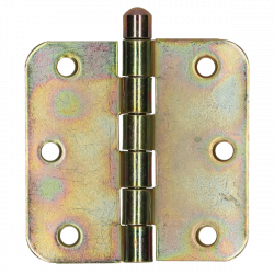 Gerolde knopscharnier 76x76 g.geel  /st