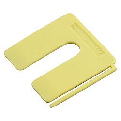 Uitvulplaatje  2mm geel     /disp.
