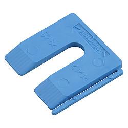 Uitvulplaatje  4mm blauw  /disp.
