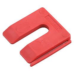 Uitvulplaatje  5mm rood    /disp.