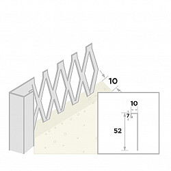 Stucstop 260cm - diepte 10mm
