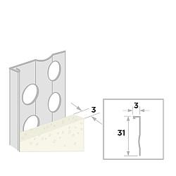 Stucstop 270cm - diepte 3mm