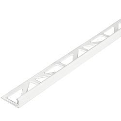 Tegelstrip  ALU-L 10mm recht 270cm Briljant-wit