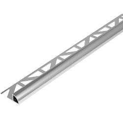 Tegelstrip ALU 8mm Kwartrond-270cm zilver