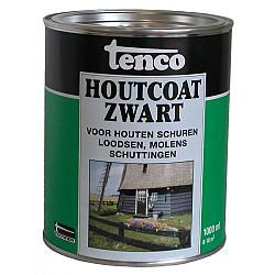 Houtcoat Zwart 1ltr Tenco