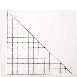 Steenkorf Paneel D 60x85cm Driehoek
