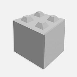 Stapelblok 80x80x80cm