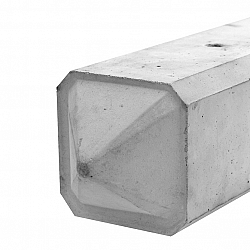Betonpaal 10x10x275 Wit Diamant tussenpaal