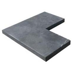 Vijverrand hoek 25-50/50x3cm Bluestone