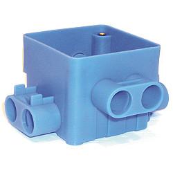 Centraaldoos Ongelijke invoer vierkant blauw