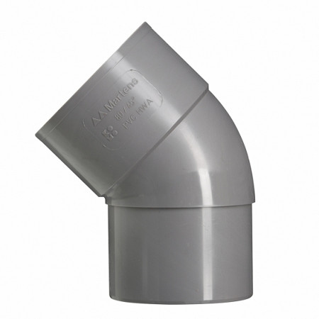 100 mm 45' bocht mof/verj.spie grijs hwa