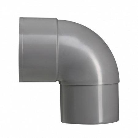 100 mm 90' bocht mof/verj.spie grijs hwa