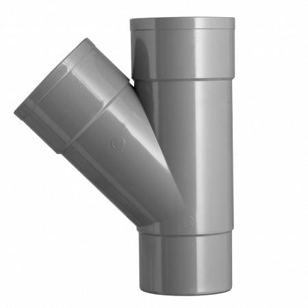 100 mm spruitstuk 2x lijmmof grijs hwa